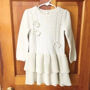 HEIRLOOMS Sparkly Cable Knit Sweater Dress SZ 4T